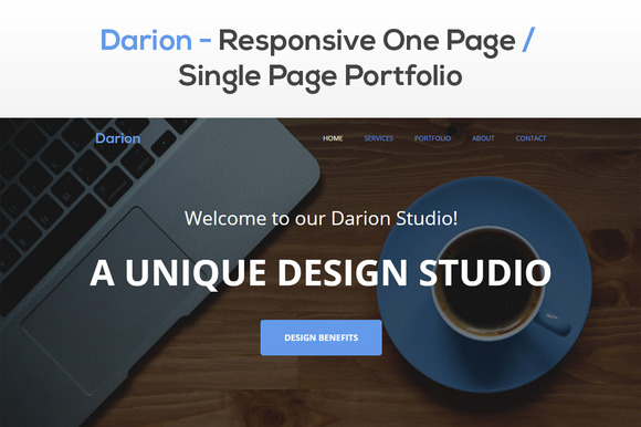 Darion Responsive One Page Theme