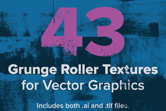 Grunge Roller Texture Vector Pack