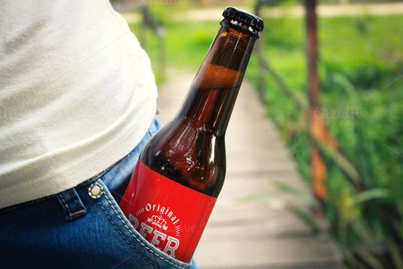 Beer Bottle Label Mock-up#5