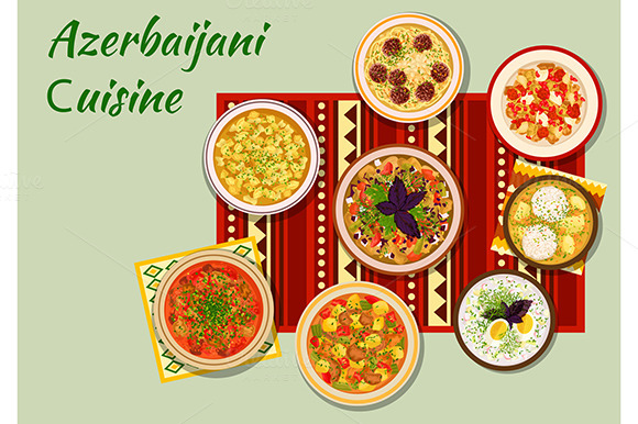 Create meatball charector with illustrator designtube for Azerbaijani cuisine