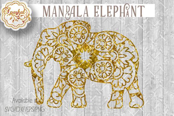 Mandalas Elephant Cut File