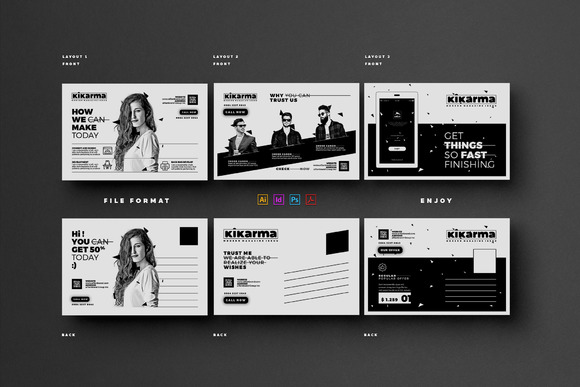 Postcard template indesign designtube creative design for Indesign postcard template 4x6