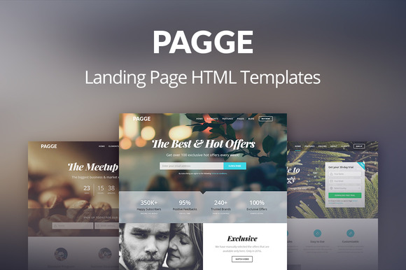Pagge Landing Page HTML Templates