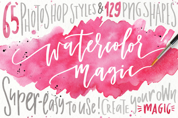 Watercolor Magic Design Kit