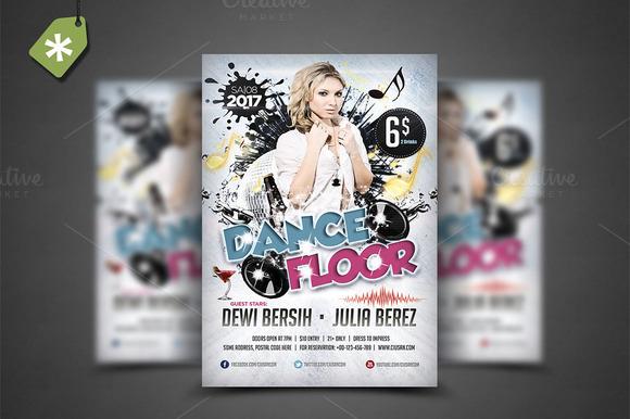 Dance Floor Flyer Template