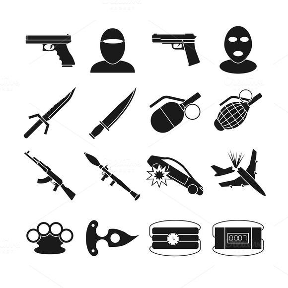 Terrorism Vector Icons