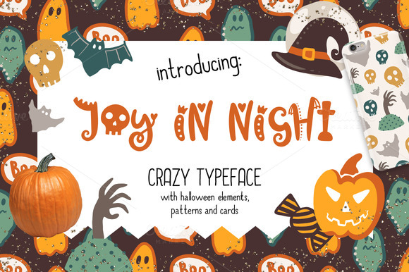 Joy In Night Halloween Typeface