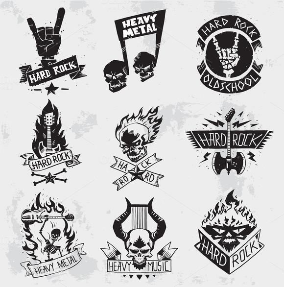Heavy Metal Music Symbol Vector