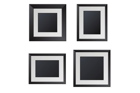Realistic Picture Frames Set