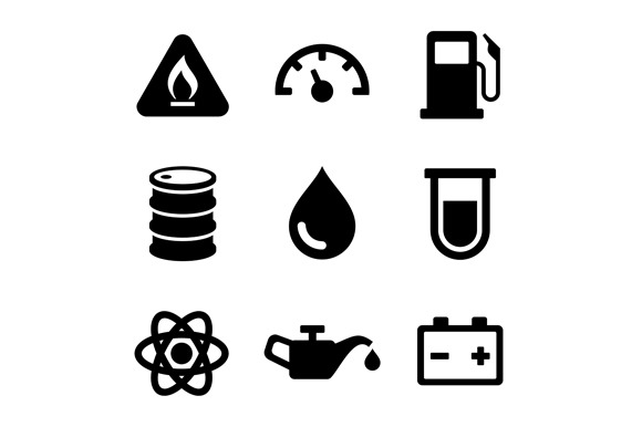 Gasoline Diesel Fuel Icons