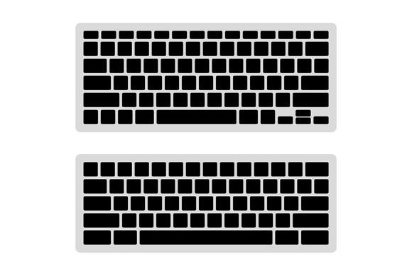 Computer Keyboard Blank Template Set