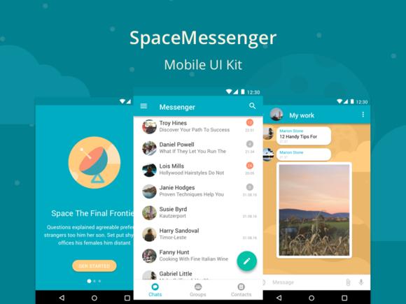 SpaceMessenger Mobile UI Kit