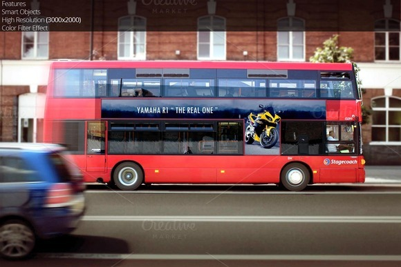 London Bus Advertisement Mockup 8