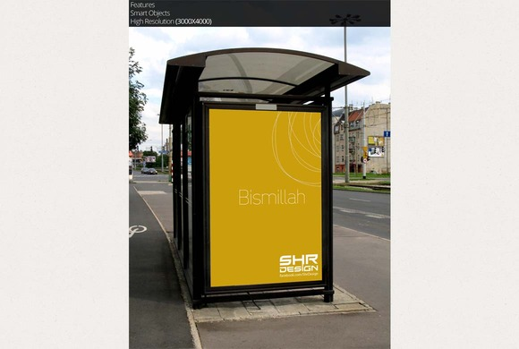Bus Stand Mockup 6