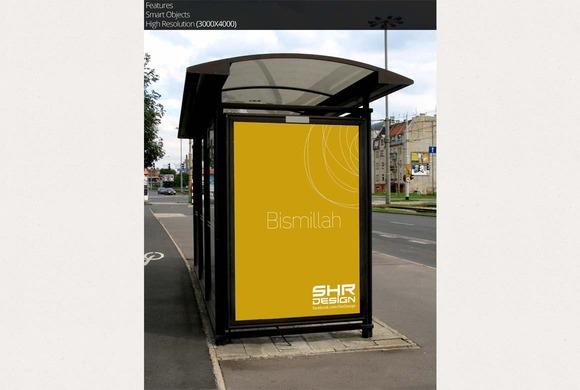 Bus Stand Mockup 6