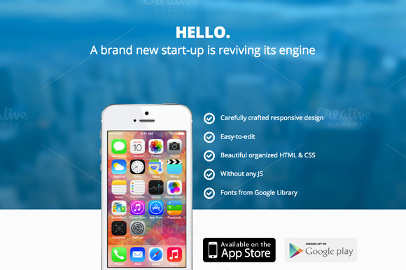 Hello IPhone App Website Template