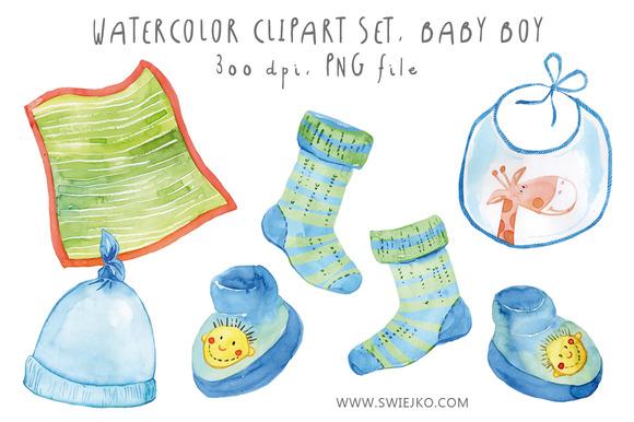 Watercolor Baby Set Baby Boy