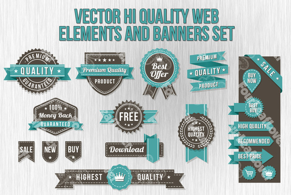Vector Web Banners And Elements