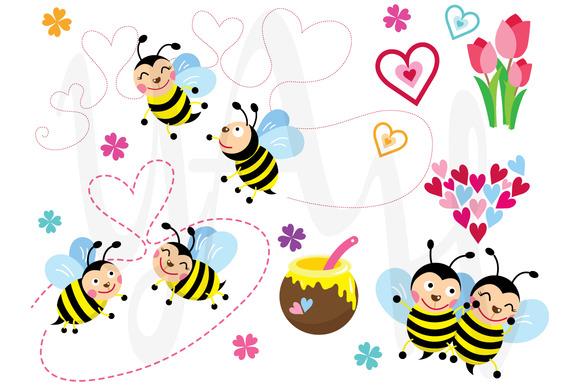 Love Bee Clip Art