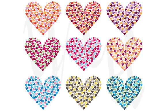 Rainbow Colorful Heart Shape Set
