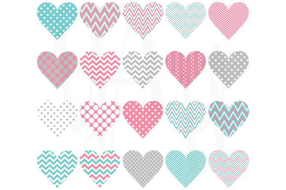 Heart Shape Pattern Set
