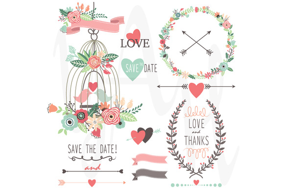 Vintage Flowers And Birdcage