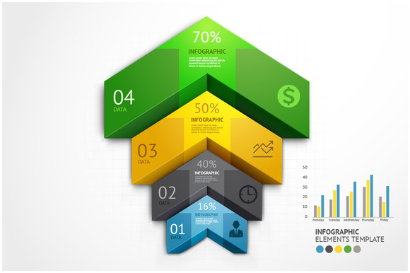 Arrow Business Infographic Template