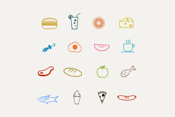 Food Drink Line Icons
