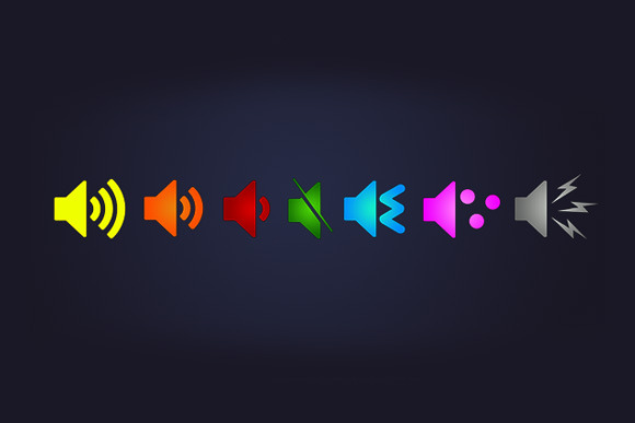 Bright Bold Audio Icons