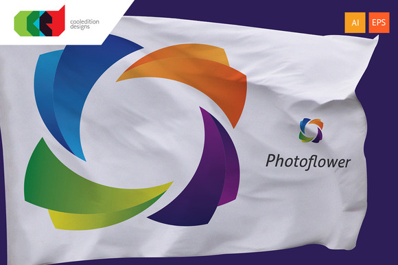 Photo Flower Logo Template