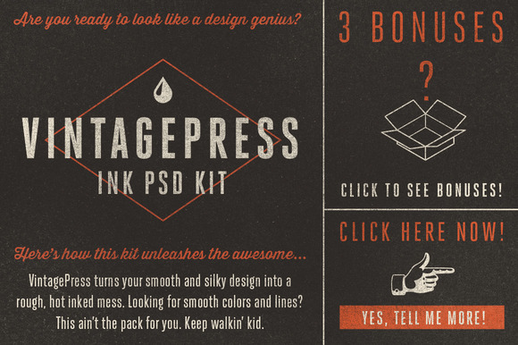 VintagePress Ink Plate Effects