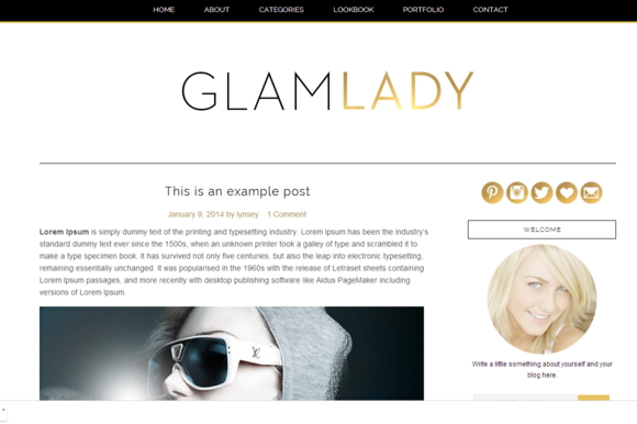 Glam Lady Wordpress Theme