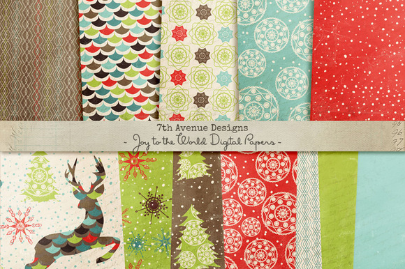 Joy To The World Digital Papers