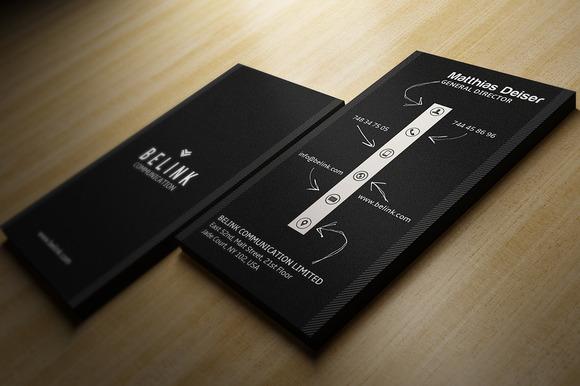 Creative Black Business Card