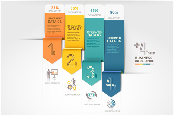 Business Arrow Infographics Template