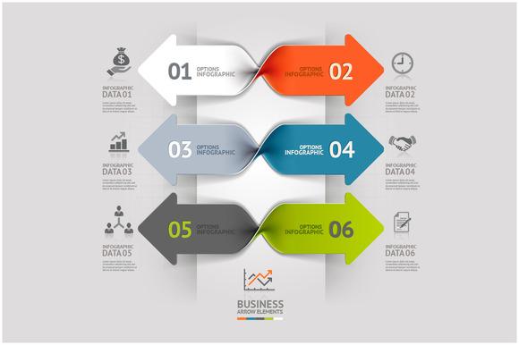 Business Arrow Spiral Infographics