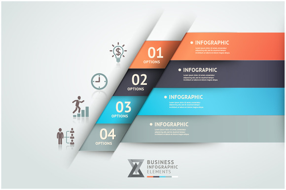 Infographics Origami Template