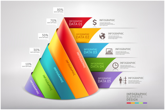 Business Cone Infographic Template