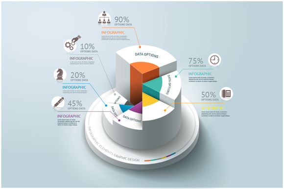 Business Infographics Step Circle