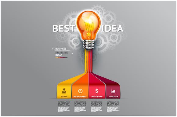 Business Lightbulb Infographic Idea