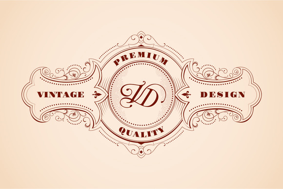 Vintage Logo Design Woodcut Style