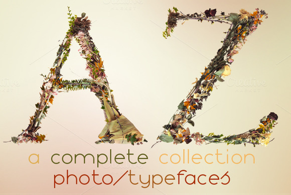 NT Fall A Multicolor Photo Typeface
