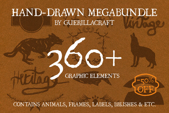 MegaBundle Of Hand-drawn Products