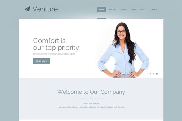 Venture Business WordPress Theme