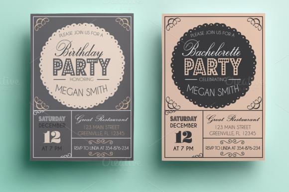Bachelorette Birthday Invitation