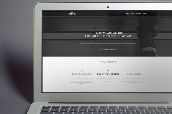 Allure Creative PSD Template