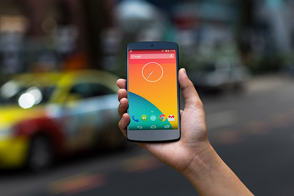 Nexus5 PSD Taxi Blur High