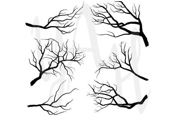 Branch Silhouettes Clip Art