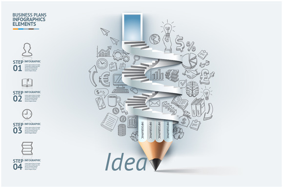 Business Pencil Infographic Idea