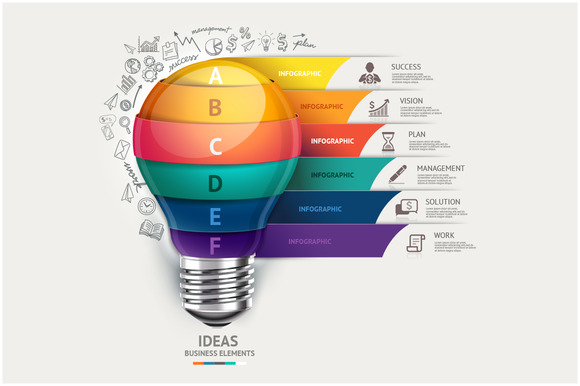 Lightbulb Infographics Template